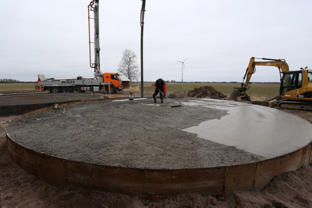 Gjutning platta silos