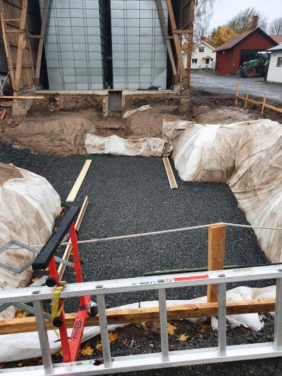 Grävt för källare Håkanstorp